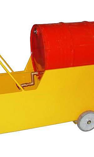 Carrinho cavalete para tambor com contenção