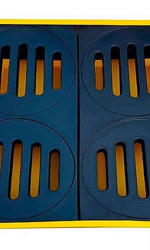 pallet de contenção para 4 tambores