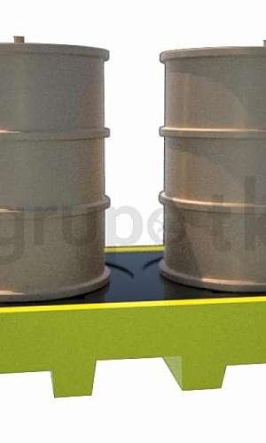 pallet de contenção plástico
